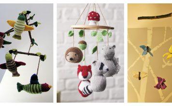 Baby Mobile Free Knitting Pattern