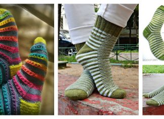 Caterpillar Socks Free Knitting Pattern