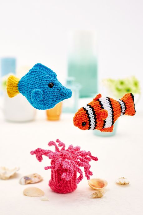 Clown Fish and Friends Free Knitting Pattern
