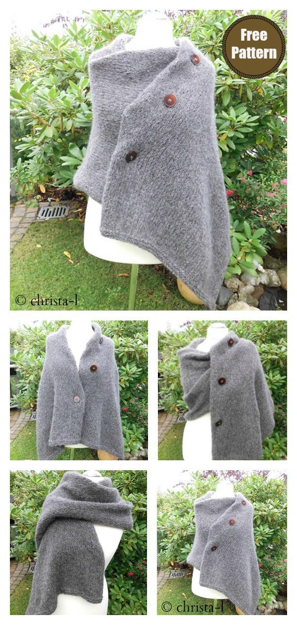 Convertible Three Way Wrap FREE Knitting Pattern