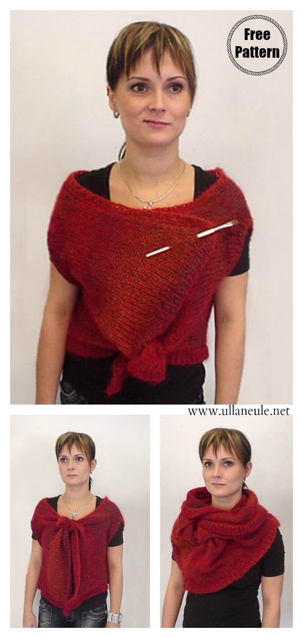 Convertible Wrap FREE Knitting Pattern