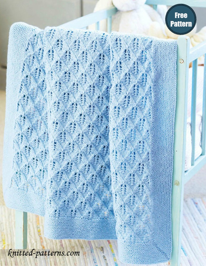 Cot Blanket Free Knitting Pattern