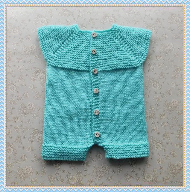 Babbity Baby Romper Free Knitting Pattern