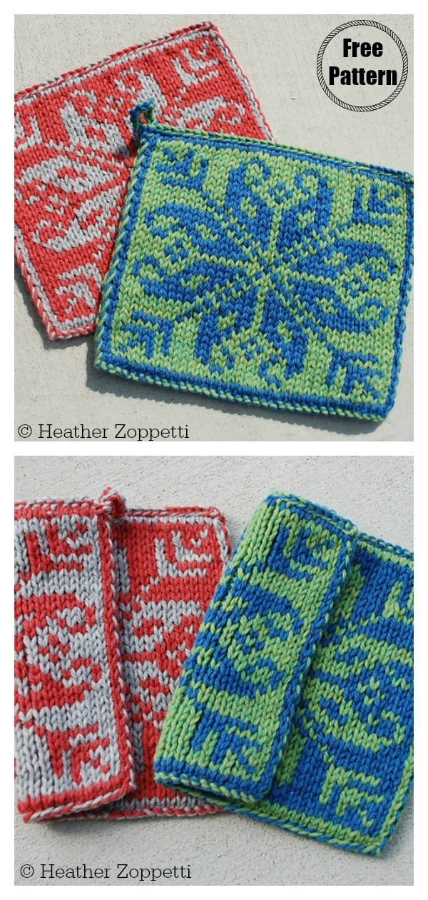 Double Knitting Square Coasters Free Knitting Pattern