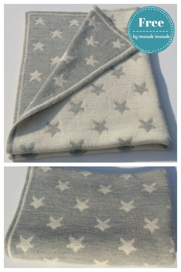 Double-Knitting Stars Baby Blanket Free Knitting Pattern