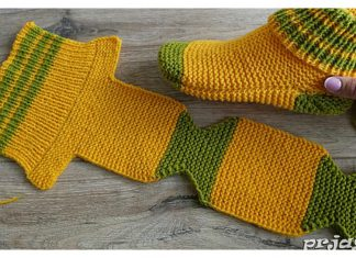 Flat Knit Slippers Free Knitting Pattern and Video TutorialFlat Knit Slippers Free Knitting Pattern and Video Tutorial