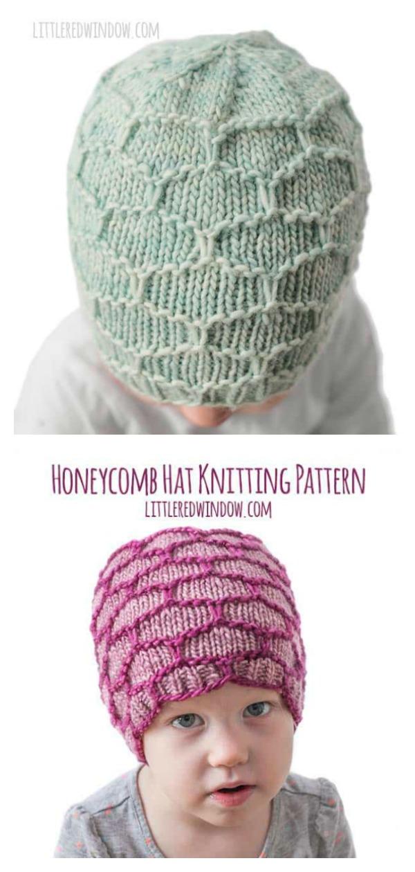 Honeycomb Baby Hat Free Knitting Pattern