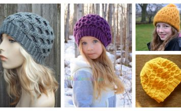Honeycomb Hat Knitting Pattern