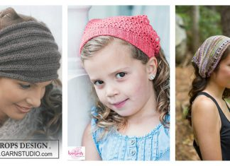 Kerchief Headband Free Knitting Pattern