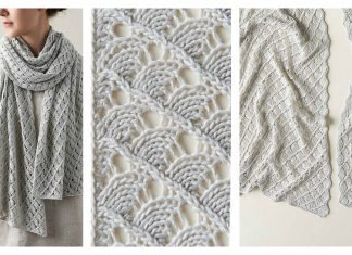 Little Moons Lace Wrap Free Knitting Pattern