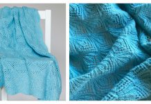 Magic Lantern Plaid Lace Baby Blanket Free Knitting Pattern