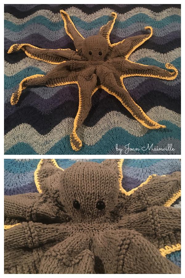 Octopus Soft Toy Free Knitting Pattern