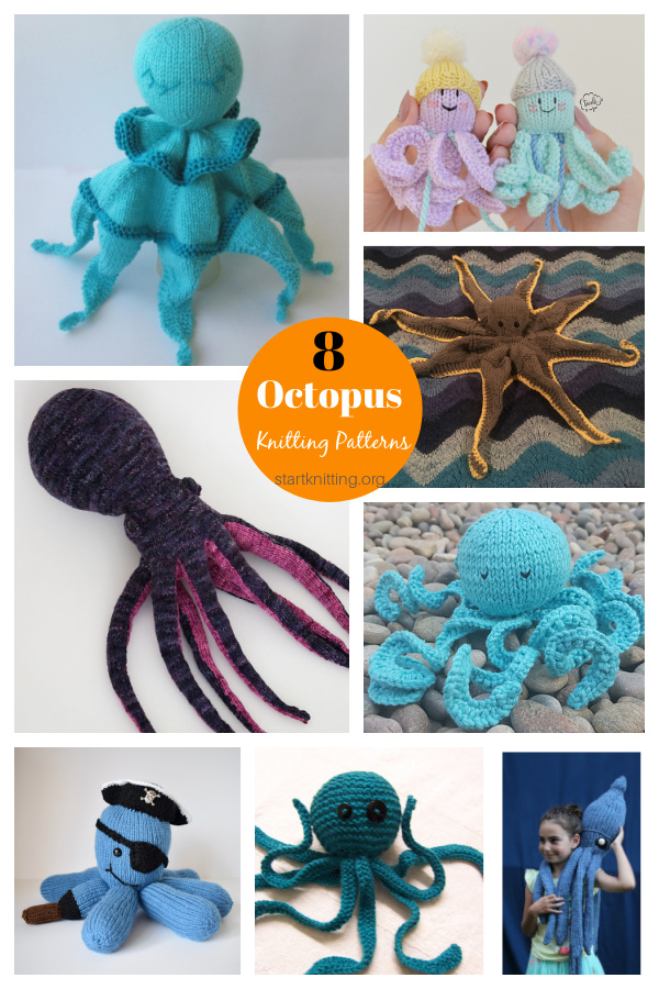 8 Octopus Soft Toy Knitting Patterns