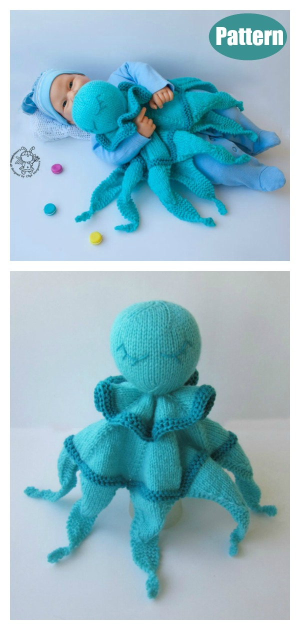 Octopus Toy Baby Lace Blanket Knitting Pattern