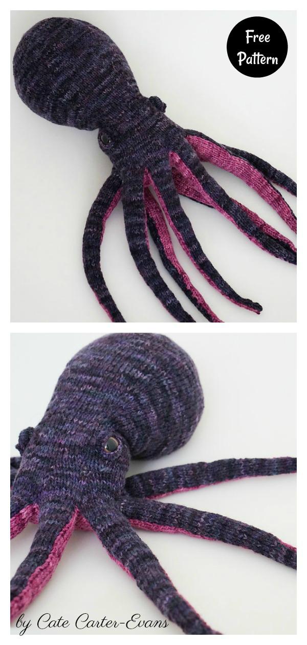 Opal the Medium Octopus Soft Toy Free Knitting Pattern