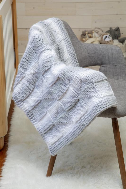 Pinwheel Baby Blanket Free Knitting Pattern