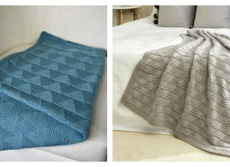 Purls and Triangles Blanket Free Knitting Pattern