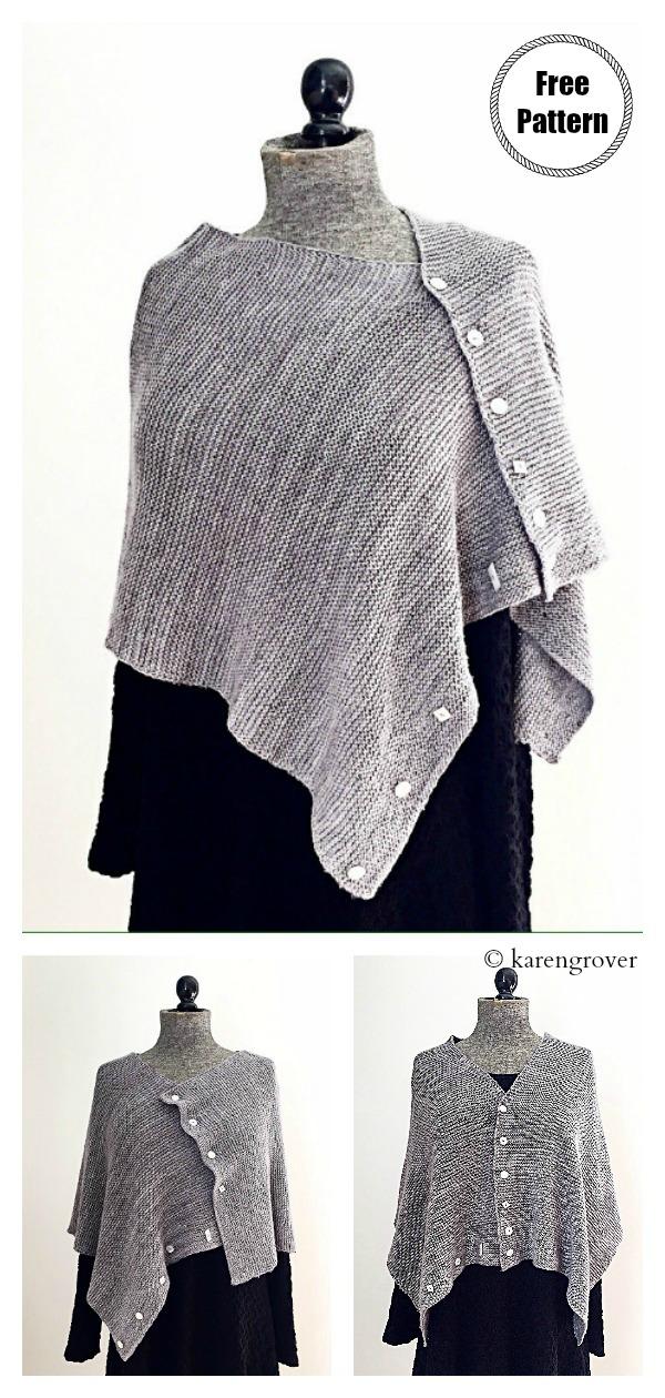 Simple Rectangular Convertible Wrap Free Knitting Pattern