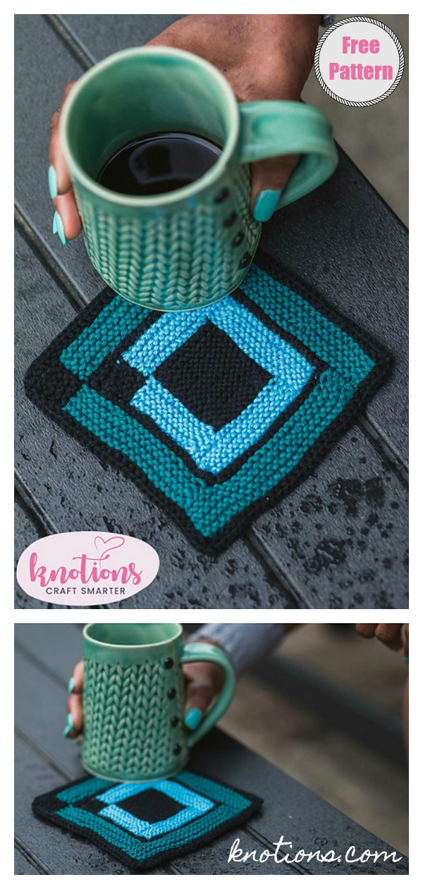 Square Coasters Free Knitting Pattern