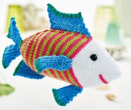 Amigurumi Steve the Fish Free Knitting Pattern