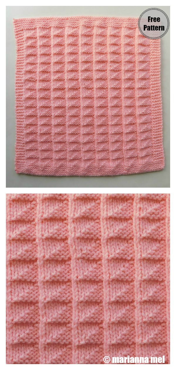 Triangles Baby Blanket Free Knitting Pattern