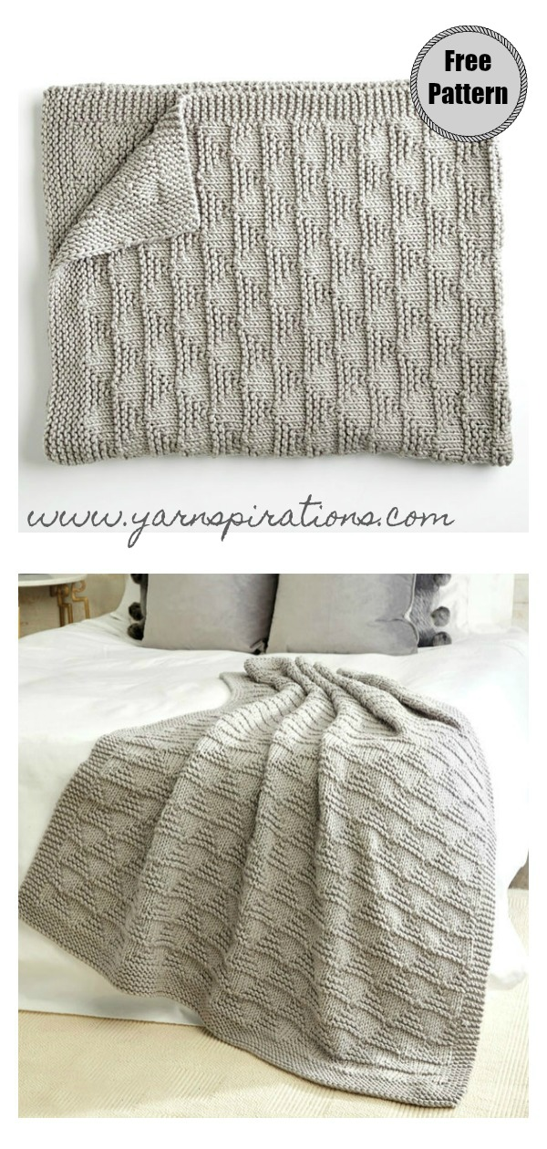 Triangles Throw Free Knitting Pattern