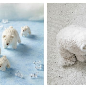 Amigurumi Polar Bear Toy Free Knitting Patterns
