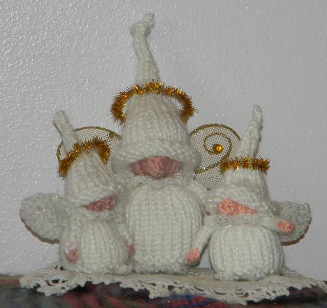 Angel Gnomes Free Knitting Pattern