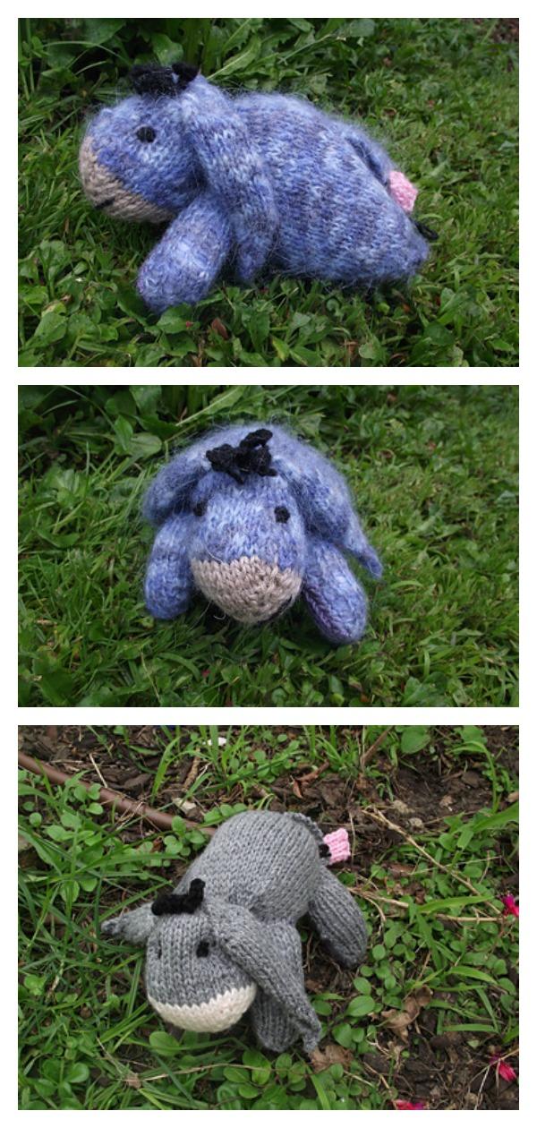 Amigurumi Baby Eeyore Free Knitting Pattern