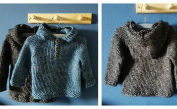 Baby Hooded Pullover Free Knitting Pattern