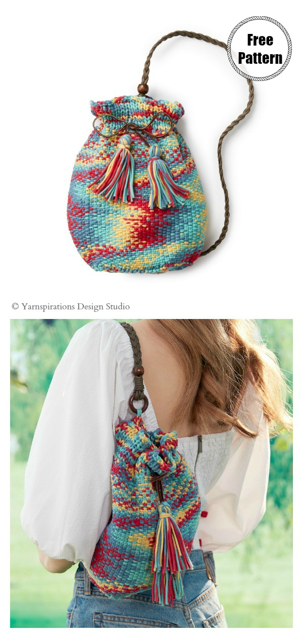 Bucket Tote Bag Free Knitting Pattern