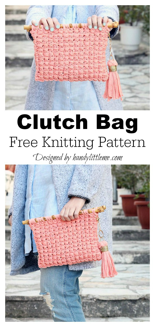 Clutch Bag Free Knitting Pattern
