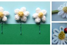 Daisy Flower Free Knitting Pattern