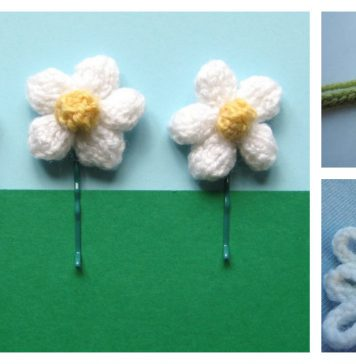 Daisy Flower Free Knitting Pattern