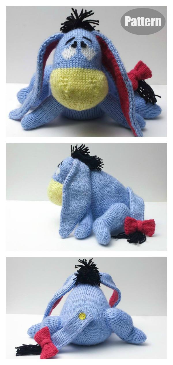 Amigurumi Eeyore Donkey Knitting Pattern