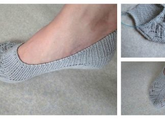 No Show Socks Free Knitting Pattern