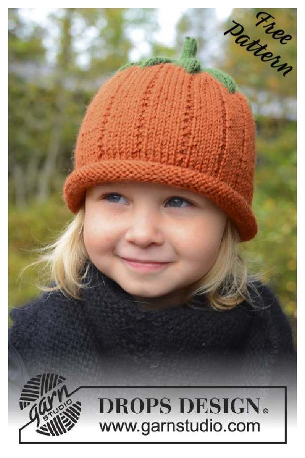 Pumpkin Hat Free Knitting Pattern