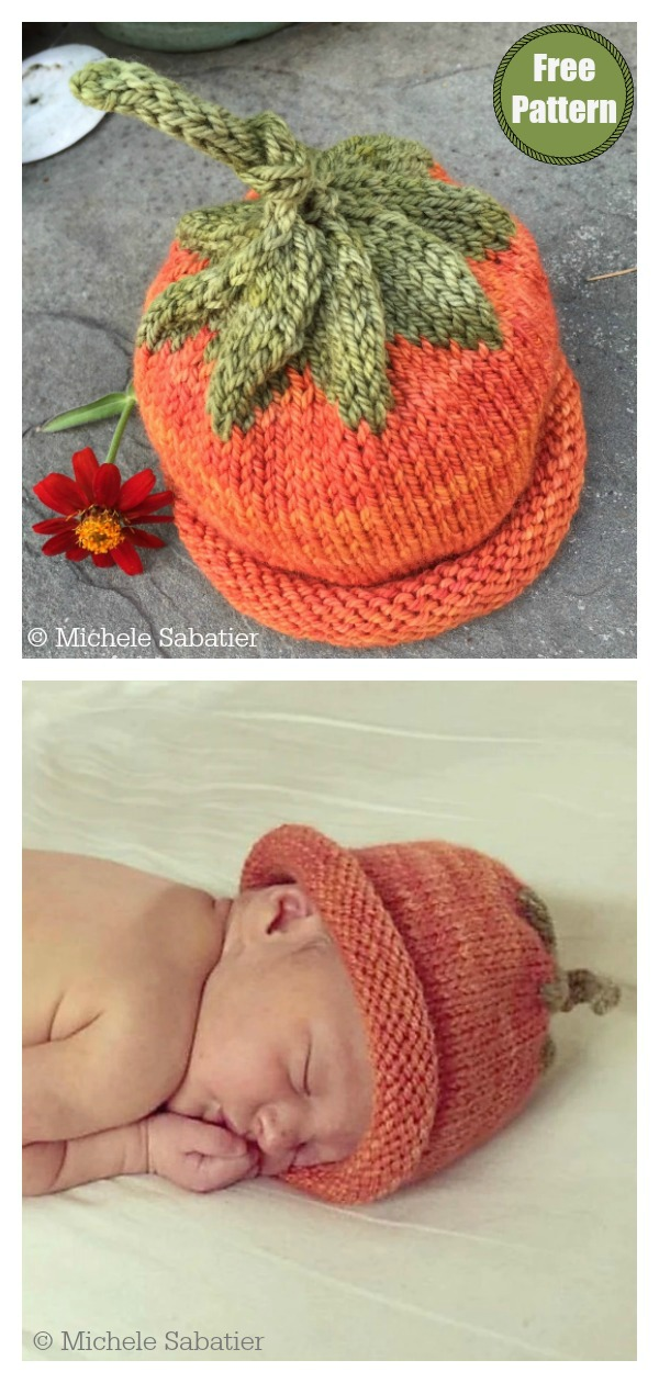 Pumpkin Baby Hat Free Knitting Pattern