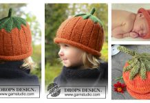 Pumpkin Hat Free Knitting Pattern
