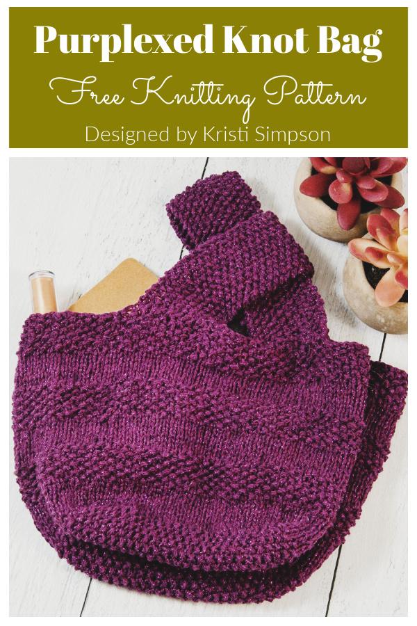 Purplexed Knot Bag Free Knitting Pattern