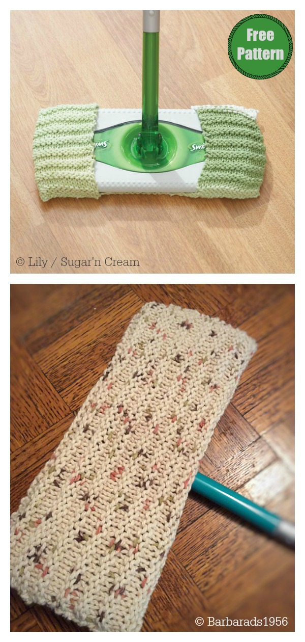 Reusable Duster Cover Free Knitting Pattern