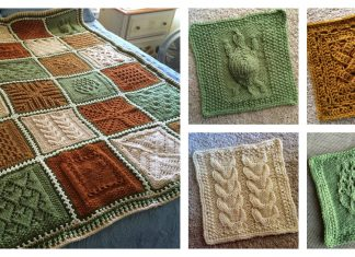 Sampler Afghan Blanket Free Knitting Pattern
