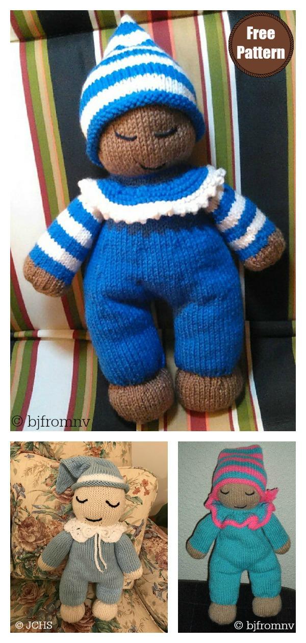 Sleepy Baby Doll Free Knitting Pattern