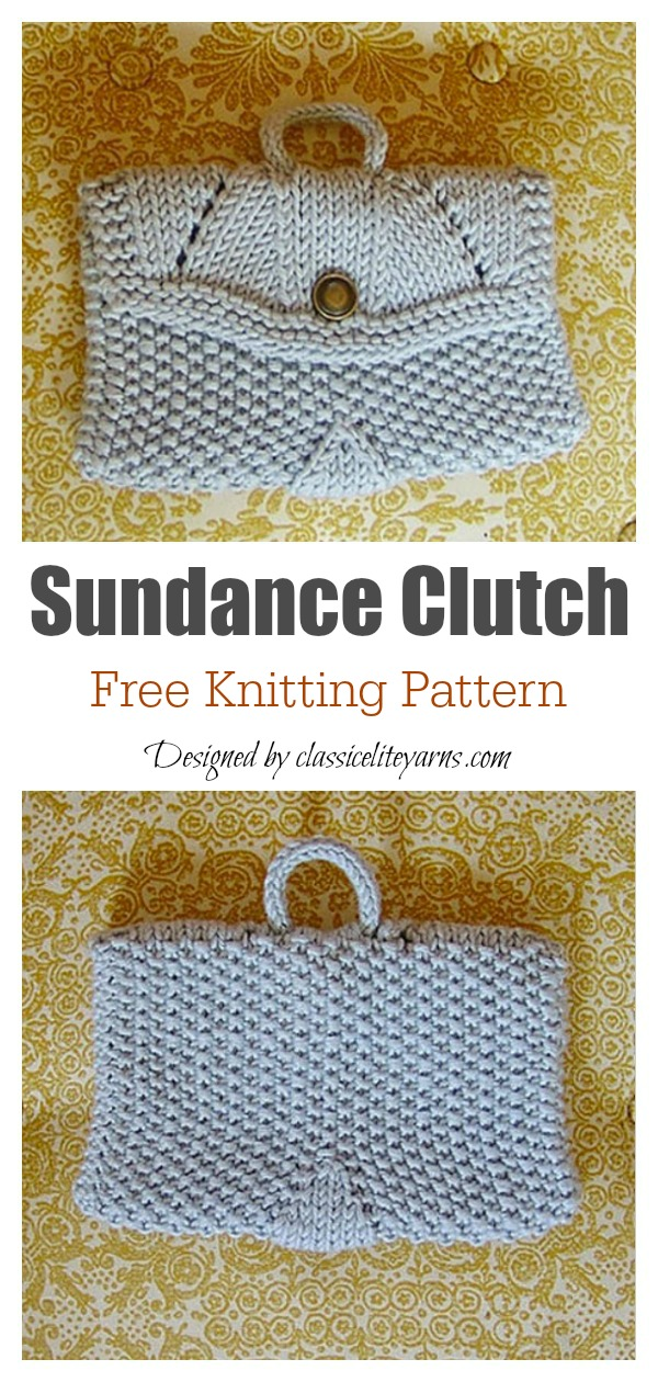 Sundance Clutch Bag Free Knitting Pattern