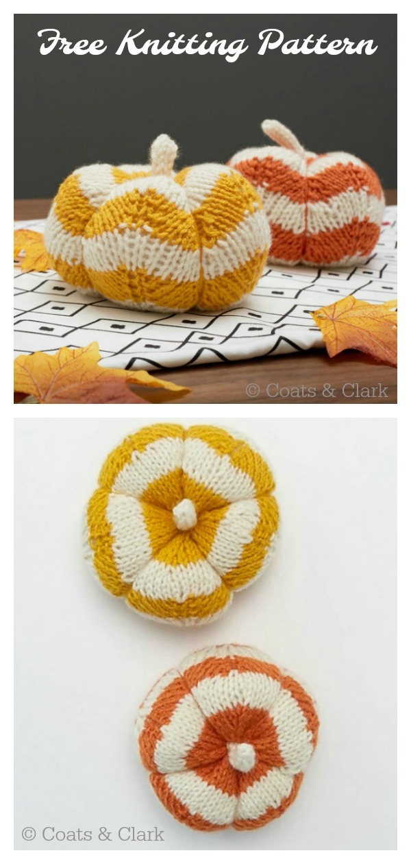 Autumn Pumpkin Free Knitting Pattern