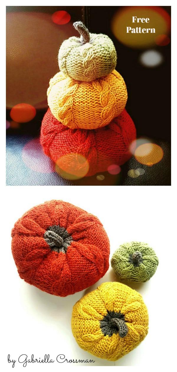 Autumn Pumpkins Free Knitting Pattern