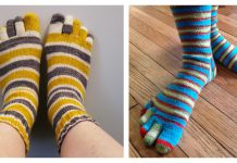 Basic Toe Sock Free Knitting Pattern