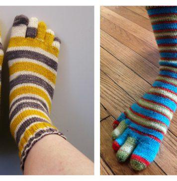 Basic Toe Sock Free Knitting Pattern