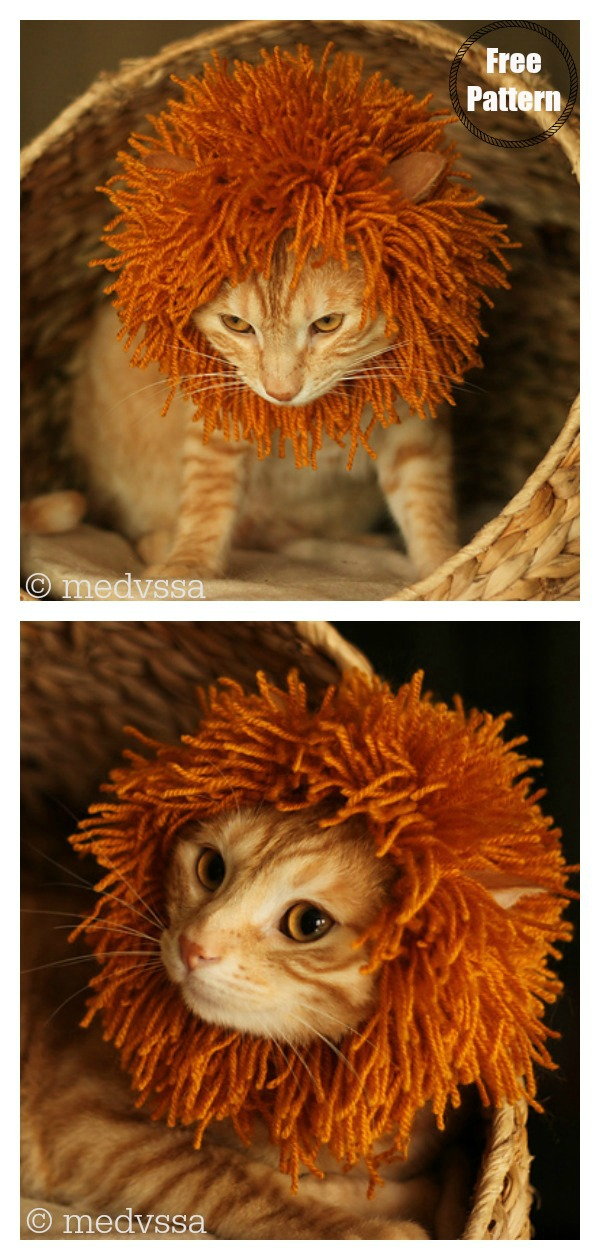 Cat's Mane Hat Free Knitting Pattern