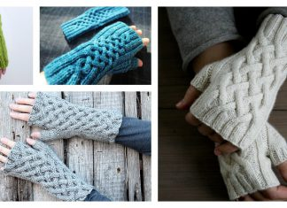 Celtic Cable Fingerless Gloves Free Knitting Pattern